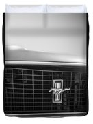 1969 Ford Mustang Grille Emblem -0133bw Duvet Cover
