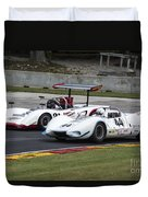 1969 Lola T163 And 1965 Wolverine Road America Duvet Cover