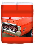 1969 Mercury Cougar Tail Light With Logos Duvet Cover