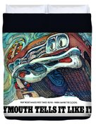 1969 Plymouth Gtx - Plymouth Tells It Like It Is Duvet Cover