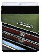 1969 Pontiac Gto Taillight Emblem Duvet Cover