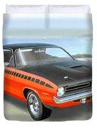 1970 Barracuda Aar  Cuda Classic Muscle Car Duvet Cover