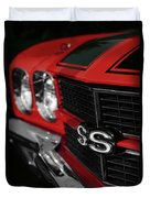 1970 Chevelle Ss396 Ss 396 Red Duvet Cover