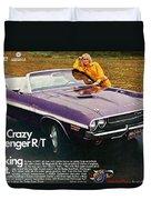 1970 Dodge Challenger Rt Convertible Duvet Cover