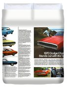 1970 Dodge Charger Duvet Cover