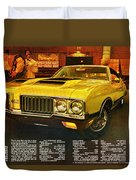 1970 Oldsmobile Cutlass 442 W-30 Duvet Cover