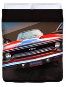 1970 Plymouth Gtx Vectorized Duvet Cover