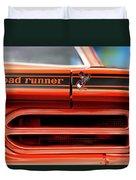 1970 Plymouth Road Runner - Vitamin C Orange Duvet Cover by Gordon Dean II