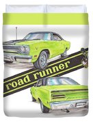 1970 Plymouth Road Runner Duvet Cover