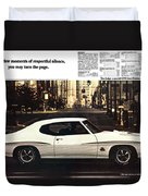 1970 Pontiac Gto The Judge  Duvet Cover