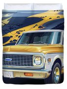 1971 Chevrolet C10 Cheyenne Fleetside 2wd Pickup Duvet Cover