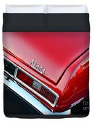1971 Chevy Nova - Red Duvet Cover