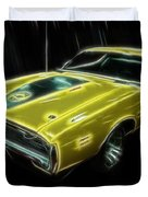 1971 Dodge Charger Superbee - Electric Duvet Cover