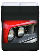 1971 Plymouth Barracuda Cuda Red  Duvet Cover