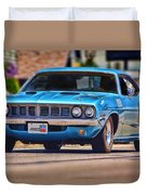 1971 Plymouth 'cuda 383 Duvet Cover