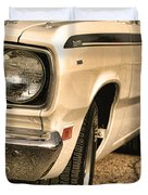1971 Plymouth Duster 340 Four Barrel Duvet Cover