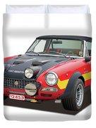 1972 Fiat Abarth 124 Rally Illustration Duvet Cover
