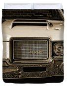 1972 Olds 442 - Sepia Duvet Cover