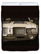 1972 Olds 442 - Sepia Duvet Cover