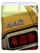 1972 Oldsmobile Cutlass 4-4-2 Duvet Cover by Gordon Dean II