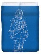 1973 Astronaut Space Suit Patent Artwork - Blueprint Duvet Cover