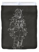 1973 Astronaut Space Suit Patent Artwork - Gray Duvet Cover by Nikki Marie Smith