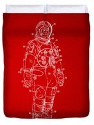 1973 Astronaut Space Suit Patent Artwork - Red Duvet Cover by Nikki Marie Smith