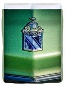 1973 Buick Regal Hood Ornament Duvet Cover
