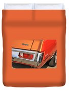 1973 Plymouth Scamp Tail Lights And Logo Duvet Cover