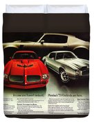 1973 Pontiac Firebird Trans Am  Duvet Cover