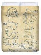 1973 Space Suit Elements Patent Artwork - Vintage Duvet Cover by Nikki Marie Smith