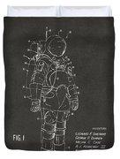 1973 Space Suit Patent Inventors Artwork - Gray Duvet Cover