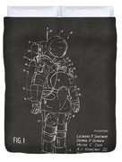 1973 Space Suit Patent Inventors Artwork - Gray Duvet Cover by Nikki Marie Smith