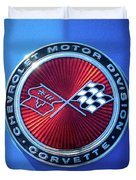 1974 Corvette Sting Ray Convertible Emblem Duvet Cover