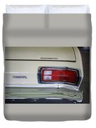 1974 Plymouth Duster Tail Light With Logos Duvet Cover