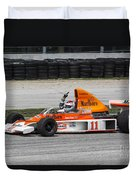 1976 Mclaren M23 F1 At Road America Duvet Cover