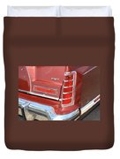 1977 Lincoln Continental Mark V With Tail Lights And Logo Duvet Cover