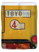 1978 Toyota Land Cruiser Fj40 Taillight Emblem -1191c Duvet Cover