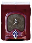 1979 Citroen 2cv Speedster Hood Ornament Duvet Cover by Jill Reger