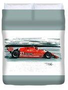 1981  Ferrari 126cx Duvet Cover