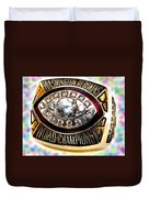 1982 Redskins Super Bowl Ring Duvet Cover by Paul Van Scott