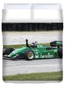 1983 Tyrrell 011 F1 At Road America Duvet Cover