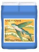 1984 Vietnam Flying Fish Postage Stamp Duvet Cover
