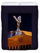 1986 Rolls-royce Hood Ornament Duvet Cover
