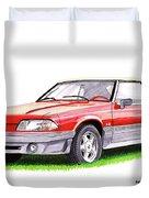 1989 Saleen Mustang Convertible Duvet Cover