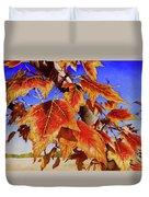 #199 Red Maple Duvet Cover