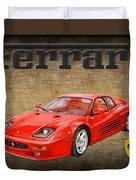 Ferrari F 512m 1995 Duvet Cover