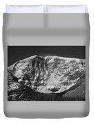1m3769 Bw East Face Mt Kitchner Duvet Cover