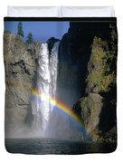 1m4716 Snoqualmie Falls And Rainbow Duvet Cover