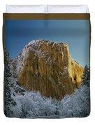 1m6576-winter On El Capitan In 1970 Duvet Cover
